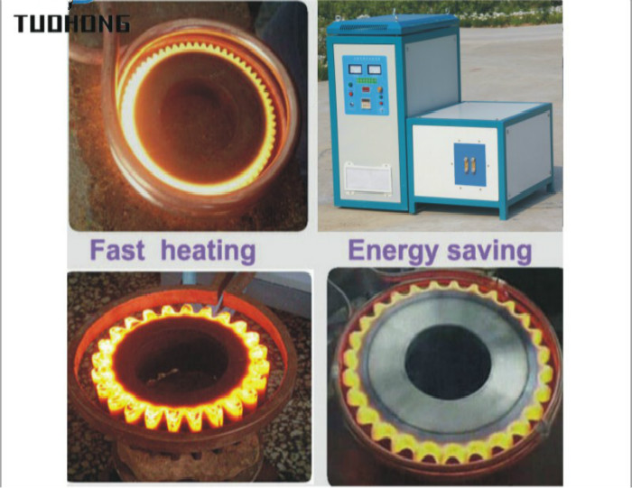 90KW Gear shaft Heat Treatment Induction Heating Machine